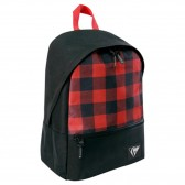 Checkerboard red and black 43 CM - 2 cpt backpack