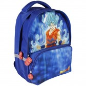 Sac à dos Dragon Ball Super Goku Bleu 40 CM - 2 Cpt