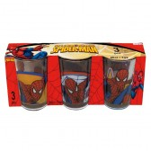 Set de 3 verres Spiderman
