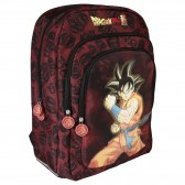Sac à dos Dragon Ball Super Goku Noir 44 CM - 3 Cpt