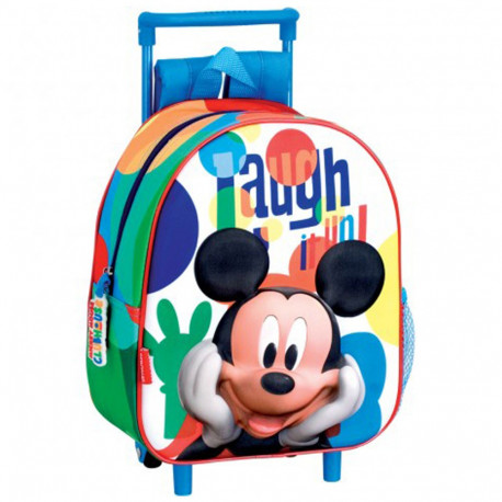 Sac à dos à roulettes maternelle Mickey Smile 28 CM trolley - Cartable