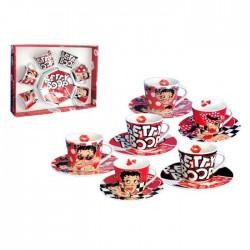 Set van 6 kopjes koffie Betty Boop