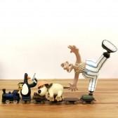 Figurine Wallace et Gromit poursuite en train