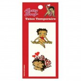 Tatouage Temporaire Betty Boop Roge Rouge
