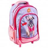 Sac à dos à roulettes Chien 47 CM Studio Pets Trolley  - Cartable