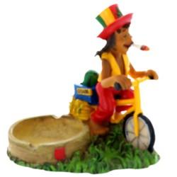 Cendrier figurine Rasta Vélo