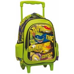 Sac à dos à roulettes maternelle Tortue Ninja Good Guys 31 CM - Trolley