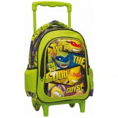 Sac à roulettes maternelle Tortue Ninja 31 CM - Trolley