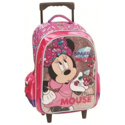 Minnie Diamond 43 CM Trolley wheeled backpack - Cartable