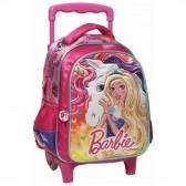 Sac à roulettes Barbie Licorne 31 CM - Cartable