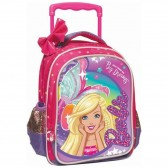 Sac à roulettes maternelle Barbie Dreams 31 CM - Cartable