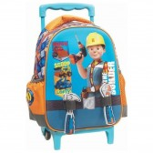 Sac à roulettes trolley maternelle Bob le Bricoleur 31 CM + Outils