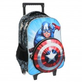 Mochila con ruedas Avengers Captain America 45 CM + shield