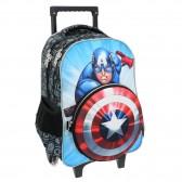 Sac à roulettes Avengers Captain America 45 CM Haut de gamme + Bouclier- Cartable