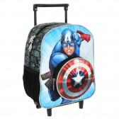 Sac à roulettes trolley maternelle Avengers Captain America 30 CM - Cartable