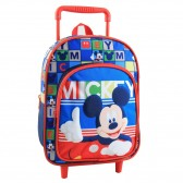 Sac a roulettes Mickey maternelle 30 CM
