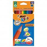 Pochette de 12 crayons de couleur BIC KIDS