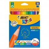 Pochette de 18 crayons de couleur BIC KIDS