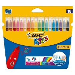 Cover of 18 markers BIC KIDS