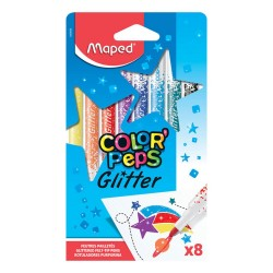 Cover of 8 markers glitter Color Peps - MAPED