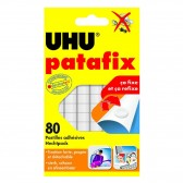 Patafix UHU 80 Pastilles - Refixables à l'infini