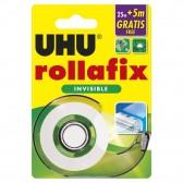 Dévidoir ruban adhésif UHU Rollafix Invisible (30 mètres)