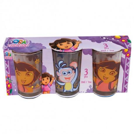 Set de 3 verres Dora L'exploratrice