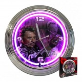 Clock neon Johnny Hallyday