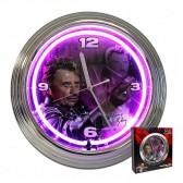 Reloj de neón Johnny Hallyday