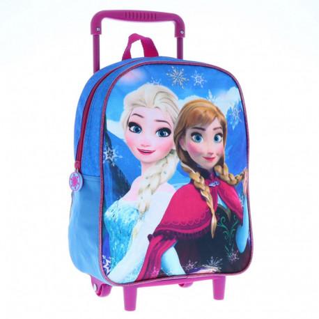 The Queen of snow 30 CM Sisters Frozen rolling bag