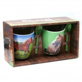 Set of 2 mugs horse