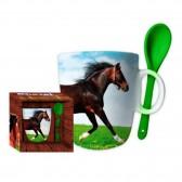 Insieme di 2 tazze cavallo