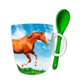 Mug à cuillère Cheval