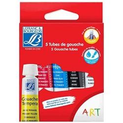 Pack of 5 gouache tubes 10 ml-LEFRANC & BOURGEOIS