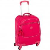 Sac à dos à roulettes Kipling LICIA Cherry Pink Mix