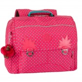 Kipling Iniko 40 CM schoolbag - Pink Summer Pop