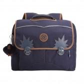 Kipling Iniko 40 CM schoolbag - Blue Tan Block