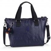 Kipling handbag AMIEL 27 CM - Lacquer Indigo
