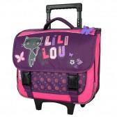 Wheeled satchel Lililou cat 38 CM high-end trolley