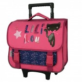 Wheeled satchel Lililou cat 38 CM high-end trolley