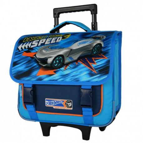 Rolling School Bag Hot Wheels blue 38 CM Trolley