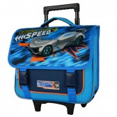 Rolling School Bag Hot Wheels blue 38 CM Trolley