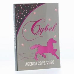 Agenda Cheval Cybel Gris et Rose 17 CM