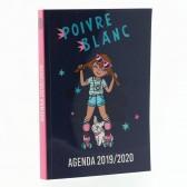 Agenda Poivre Blanc Rose 17 CM