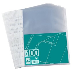 Bag of 100 perforated A4 PP 4/100e embossed pouches