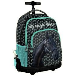Wheeled backpack horse magic 44 CM high-end trolley-satchel