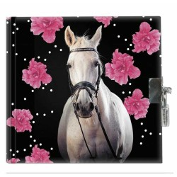 Diary horse flower-small model