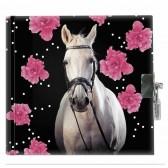Pferd-Blume-Tagebuch