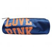 Trousse Love Pink Bleu 21 CM