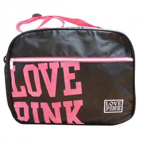 Sac reporter Love Pink Noir 38 CM